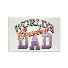 Classic World's Greatest Dad Rectangle Magnet