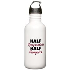 Half Cytogeneticist Half Vampire Water Bottle