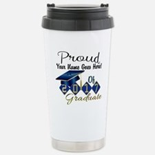 Proud 2017 Graduate Blue Travel Mug