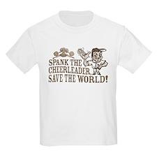 Spank the Cheerleader Kids T-Shirt