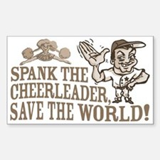 Spank the Cheerleader Rectangle Decal