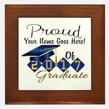 Proud 2017 Graduate Blue Framed Tile