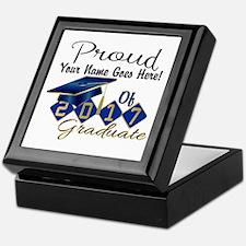 Proud 2017 Graduate Blue Keepsake Box