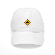 Snowmobile Warning - USA Baseball Cap