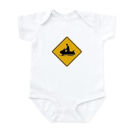 Snowmobile Warning - USA Infant Bodysuit
