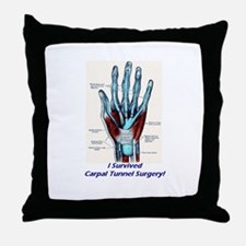 I Survived Carpal Tunnel Surgery! Throw Pillow