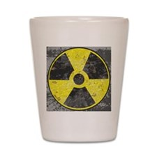 Radiation sign 2 Shot Glass