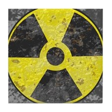 Radiation sign 2 Tile Coaster