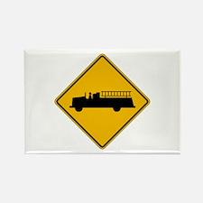 Emergency Vehicle Warning - USA Rectangle Magnet