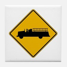 Emergency Vehicle Warning - USA Tile Coaster
