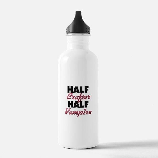 Half Crafter Half Vampire Water Bottle