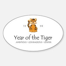 """""""Year of the Tiger"""" [1998] Oval Decal"""