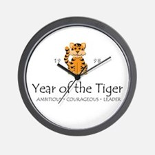 """""""Year of the Tiger"""" [1998] Wall Clock"""