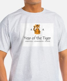 """Year of the Tiger"" Ash Grey T-Shirt"
