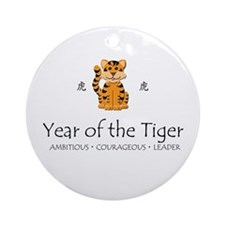 """Year of the Tiger"" Ornament (Round)"