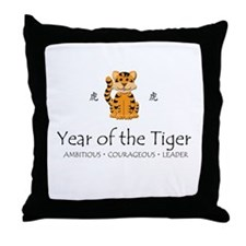 """Year of the Tiger"" Throw Pillow"