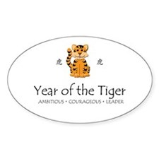 """Year of the Tiger"" Oval Decal"