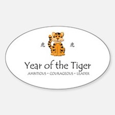 """""""Year of the Tiger"""" Oval Decal"""