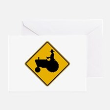 Farm Machinery Traffic - USA Greeting Cards (Packa