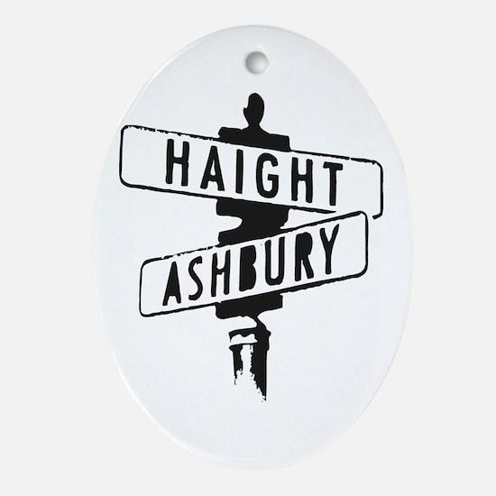 Haight Ashbury Oval Ornament