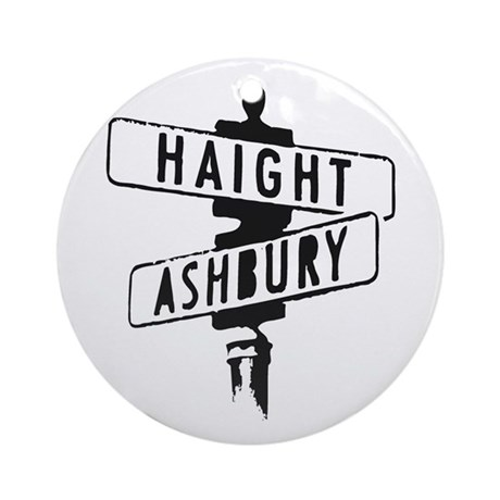 Haight Ashbury Ornament (Round)