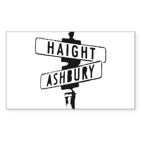 Haight Ashbury Rectangle Sticker