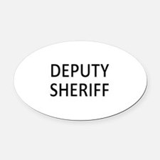Deputy Sheriff - Black Oval Car Magnet