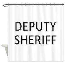 Deputy Sheriff - Black Shower Curtain