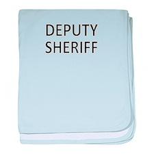 Deputy Sheriff - Black baby blanket