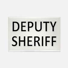 Deputy Sheriff - Black Rectangle Magnet