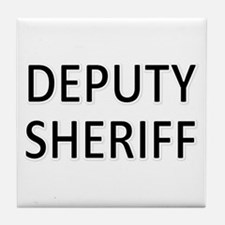 Deputy Sheriff - Black Tile Coaster