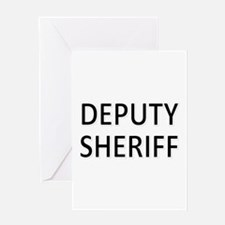 Deputy Sheriff - Black Greeting Card