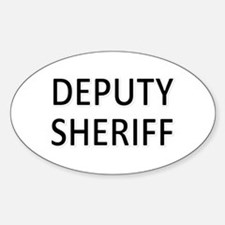 Deputy Sheriff - Black Decal