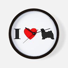 I Heart Tibetan Terrier Wall Clock