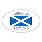Larkhall Scotland Sticker (Oval 10 pk)