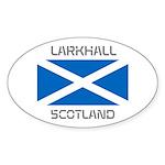 Larkhall Scotland Sticker (Oval 50 pk)