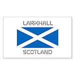 Larkhall Scotland Sticker (Rectangle 10 pk)