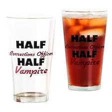 Half Corrections Officer Half Vampire Drinking Gla