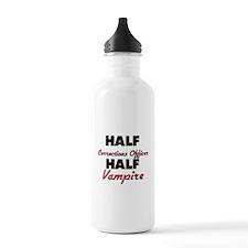 Half Corrections Officer Half Vampire Water Bottle