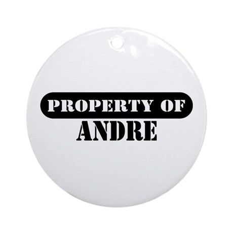Property of Andre Ornament (Round)