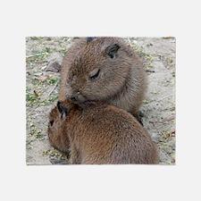 Capybara001 Throw Blanket