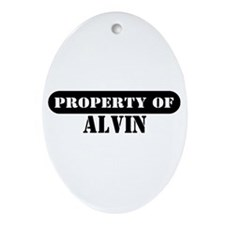 Property of Alvin Oval Ornament