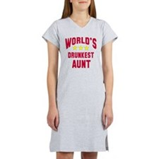 World's Drunkest Aunt Women's Nightshirt