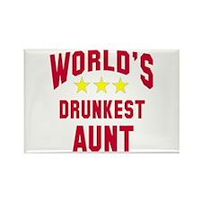 World's Drunkest Aunt Rectangle Magnet