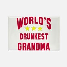 World's Drunkest Grandma Rectangle Magnet