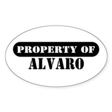 Property of Alvaro Oval Decal