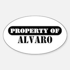 Property of Alvaro Oval Decal
