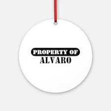 Property of Alvaro Ornament (Round)