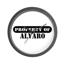 Property of Alvaro Wall Clock