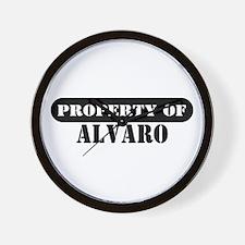 Property of Alvaro Wall Clock
